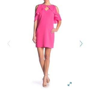 Trina Turk Cota de Caza Cold Shoulder Dress Sz 4